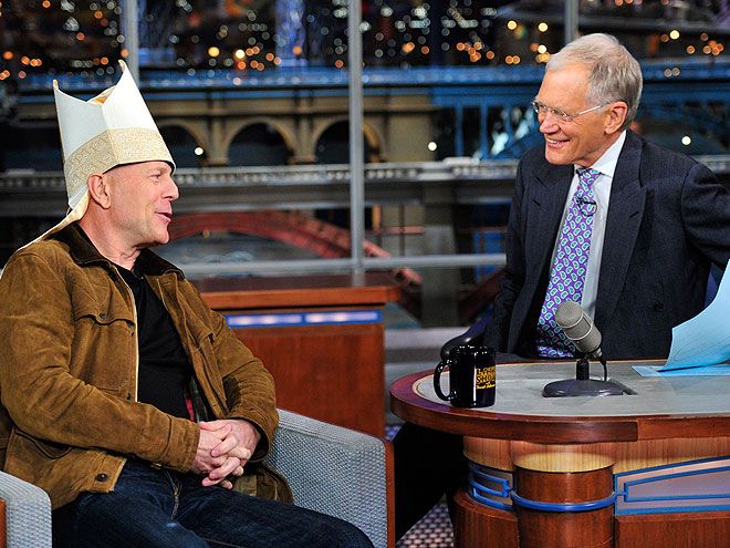 photo | Bruce Willis, David Letterman