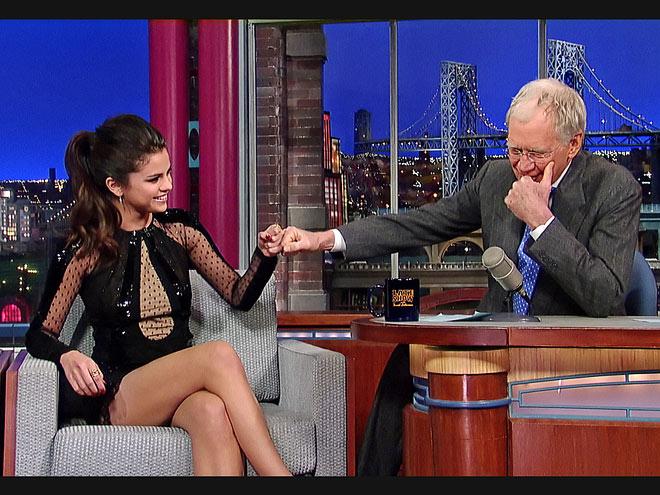 photo | David Letterman, Selena Gomez