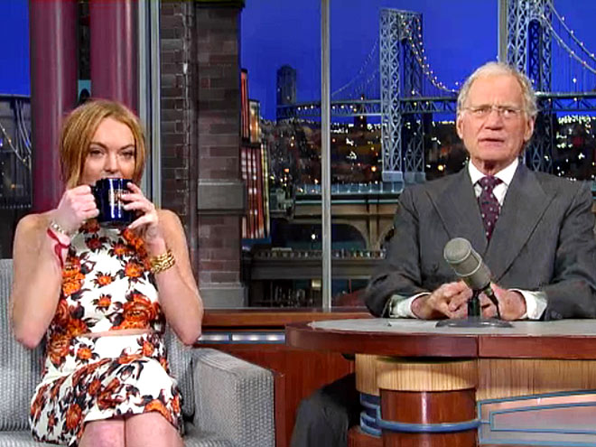 photo | David Letterman, Lindsay Lohan