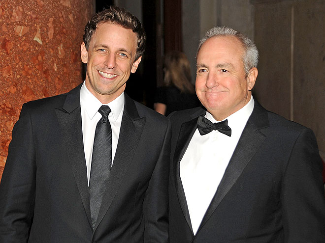 photo | Lorne Michaels, Seth Meyers