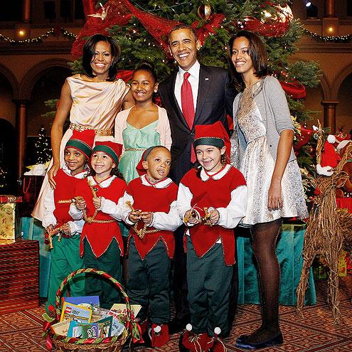 photo | Barack Obama, Malia Obama, Michelle Obama, Sasha Obama