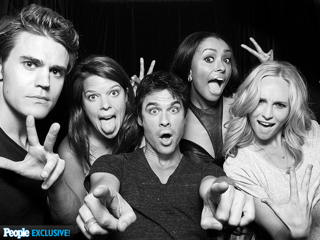 THE VAMPIRE DIARIES CAST  photo | Ian Somerhalder, Paul Wesley