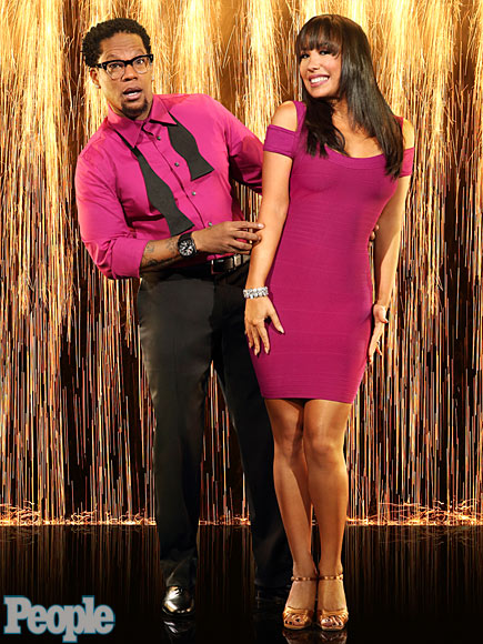 D. L. HUGHLEY & CHERYL BURKE photo | Cheryl Burke, D.L. Hughley