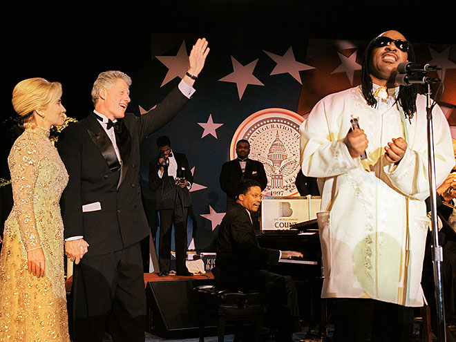 STEVIE WONDER photo | Bill Clinton, Hillary Rodham Clinton, Stevie Wonder