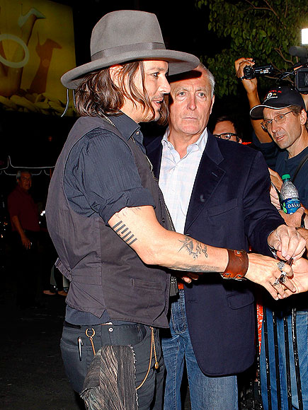 BACK OF HIS ARM photo   Johnny Depp