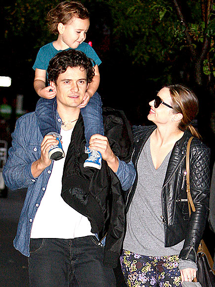 UNITED FRONT photo | Miranda Kerr, Orlando Bloom