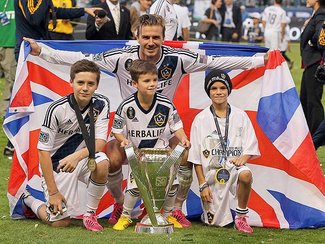 BROOKLYN, ROMEO & CRUZ BECKHAM photo | David Beckham