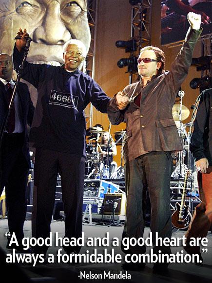 photo | Bono, Nelson Mandela