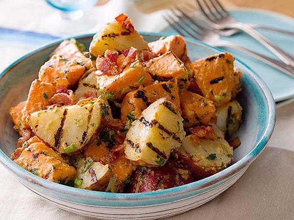 Melissa d'Arabian's Grilled Potato Salad| Memorial Day, Great Ideas