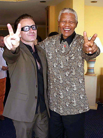 FEELING THE PEACE photo | Bono, Nelson Mandela