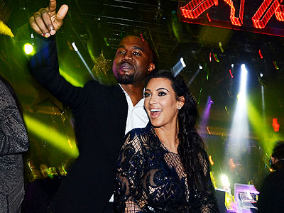 Stars Ring in the New Year | Kanye West, Kim Kardashian