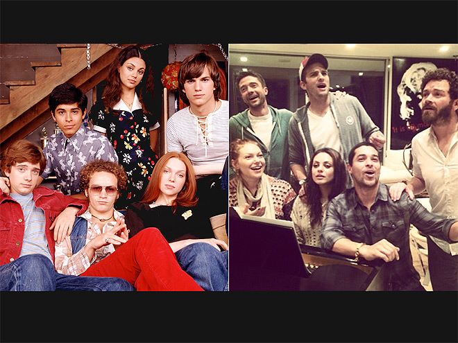 THE CAST OF THAT '70S SHOW photo | Ashton Kutcher, Danny Masterson, Laura Prepon, Mila Kunis, Topher Grace, Wilmer Valderrama