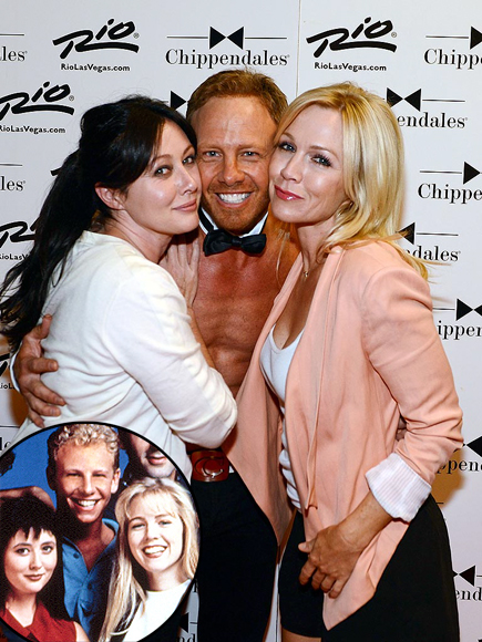 SHANNEN, IAN & JENNIE photo | Ian Ziering, Jennie Garth, Shannen Doherty