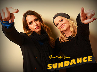 Sundance Photo Booth Fun | Amy Poehler, Jessica Alba
