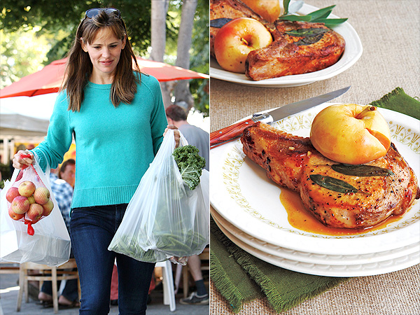 Jennifer Garner Buys Apples at Farmers Market