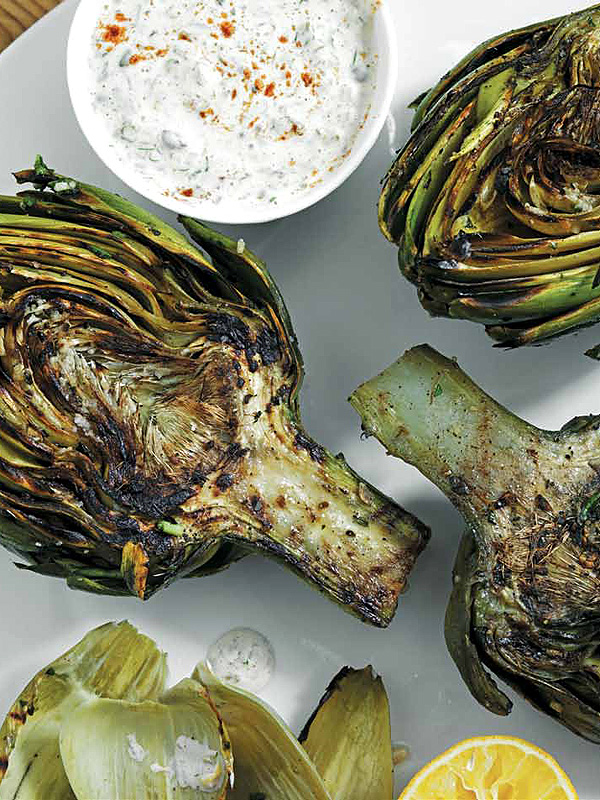 Richard Blais Charred Artichokes recipe
