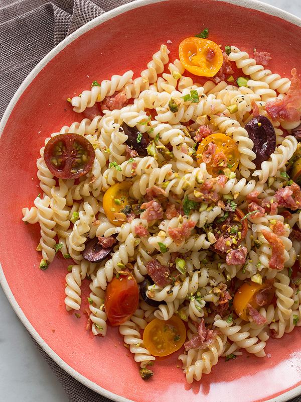 Spoon Fork Bacon Bob Harper Tomato Olive Pasta