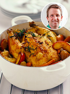 roast chicken with fruit