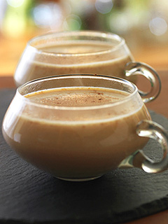 Healthy Pumpkin Spice Coffee Latte