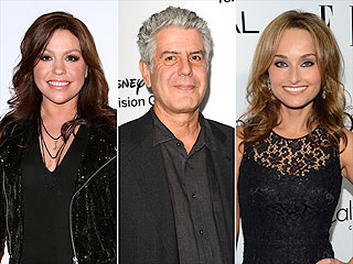 Food Network's Rachael Ray, Anthony Bourdain, Giada DeLaurentiis