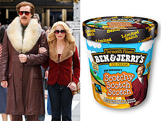 Raise Your Cone to Ben & Jerry's New Anchorman Ice Cream