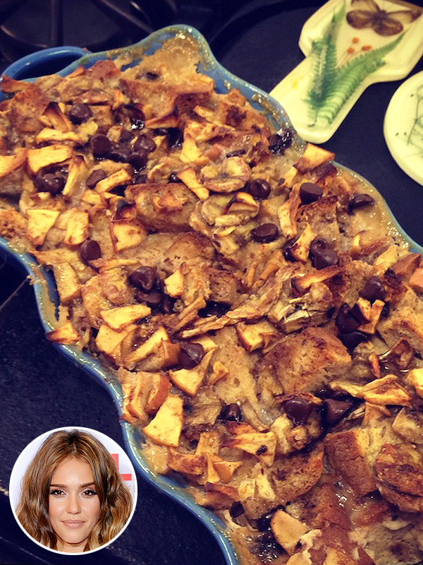 Jessica Alba's Banana Apple Bread Pudding Recipe