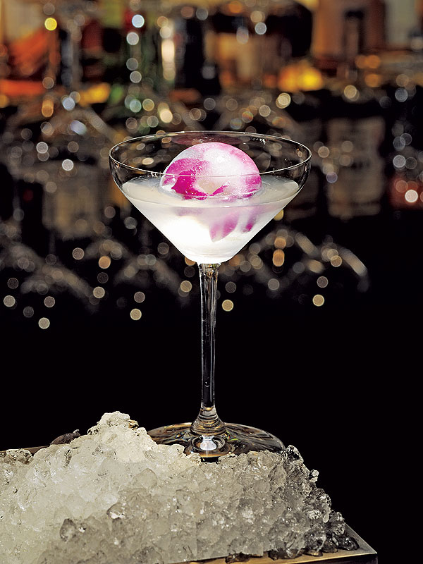 White Cosmo Orchid Ice Ball Daniel