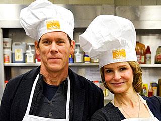 Kevin Bacon, Kyra Sedgwick Prepare 1,000 'Thanksgiving-To-Go' Meals | Kevin Bacon, Kyra Sedgwick