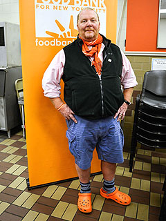 Mario Batali Orange Crocs