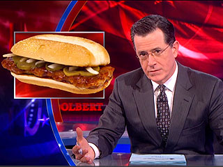 Stephen Colbert McRib Video