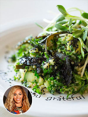Jay Z and Beyonce Knowles Vegan Kale Salad