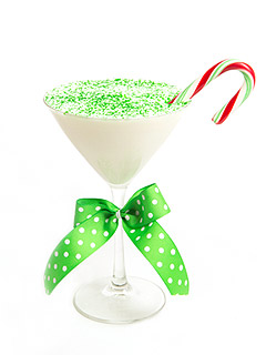 Sugar Factory Candy Cane Crunch Martini