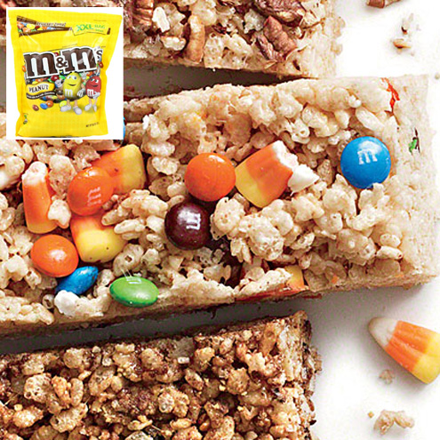 M&M's Chewy Crispy Bars