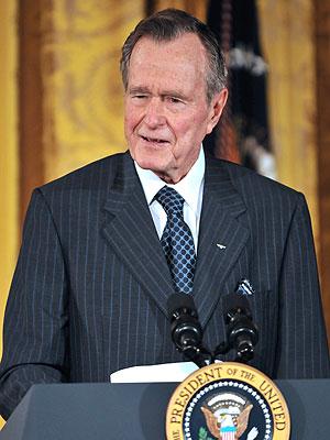 Former President George H.W. Bush Moved to ICU After 'Setbacks'   George Bush