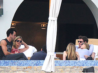 Guess Who Joined Jen and Justin in Cabo? | Emily Blunt, Jennifer Aniston, Jimmy Kimmel, John Krasinski, Justin Theroux