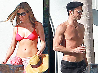 Get Jennifer Aniston's Beach Vacation Bikini – for Less! | Jennifer Aniston, Justin Theroux