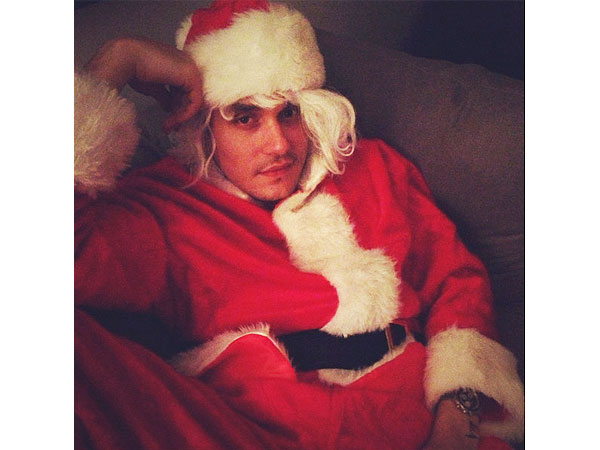 Katy Perry Posts John Mayer Dressed as Santa