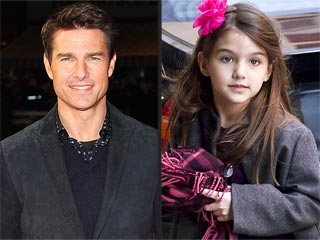 Tom Flies Suri to London for Father-Daughter Bonding Trip