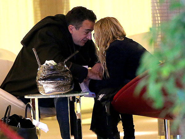 Mary-Kate Olsen & Olivier Sarkozy Stroll in Paris