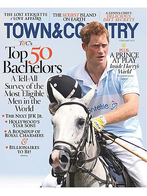 Prince Harry Named Most Eligible Bachelor by Town & Country Magazine