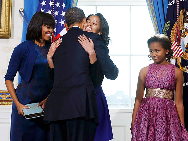 Presidential Inauguration 2013: Malia, Sasha Obama React