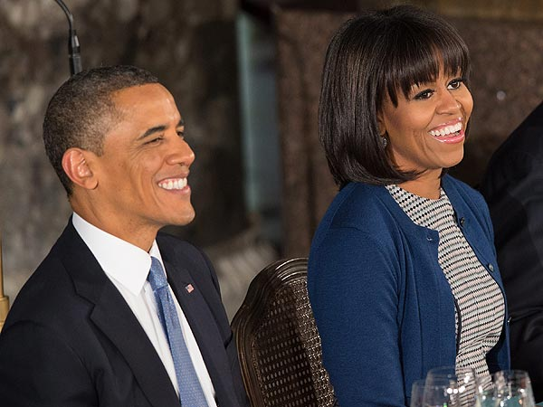 Inauguration 2013: President Obama Loves MIchelle Obama&#39;s New Bangs