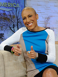 PHOTO: Robin Roberts Stages 'Dry-Run' at GMA Studio