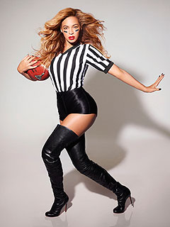 Whistle! Beyoncé Poses as Sexy Referee | Beyonce Knowles