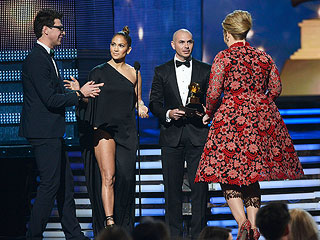 Jennifer Lopez Blocks Grammy Crasher Who Ends Up in Jail | Adele, Jennifer Lopez