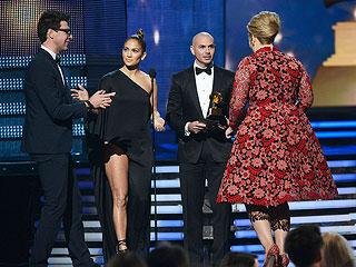Jennifer Lopez Blocks Grammy Crasher Who Ends Up in Jail | Adele, Jennifer Lopez