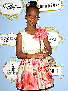 Oscar Nominee Quvenzhane Wallis, 9, Thanks Her Babysitter at Essence Awards