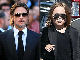Knox Jolie-Pitt Steals Brad&#39;s Cool Look | Brad Pitt