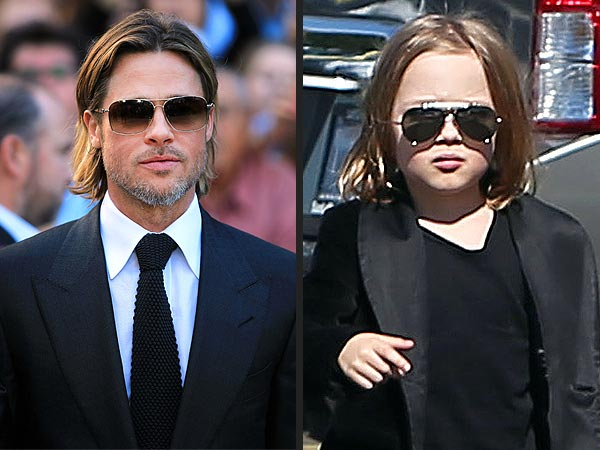 Knox Jolie-Pitt Looks Like Dad Brad Pitt