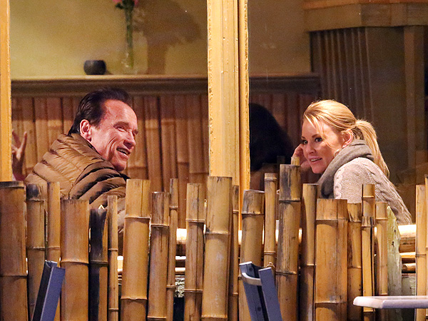 Arnold Schwarzenegger Photographed with Heather Milligan